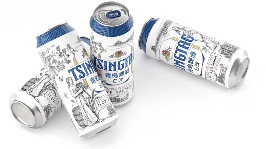 青島白啤推出新包裝啦!藍白調新式浪漫盛夏來襲